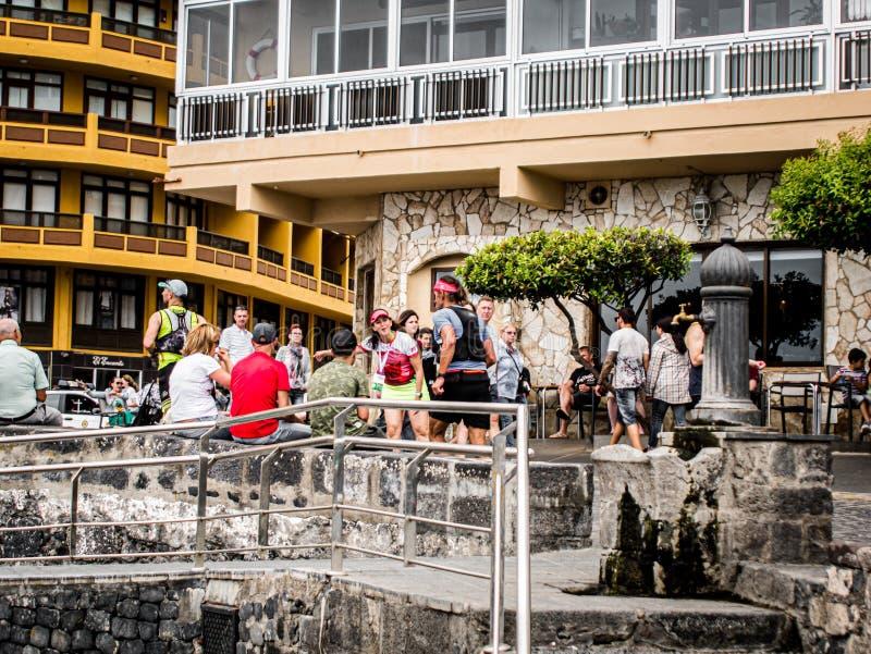 Puerto de la Cruz, Teneriffa 08 06 Teneriffa 2019 Bluetrail stockfotos