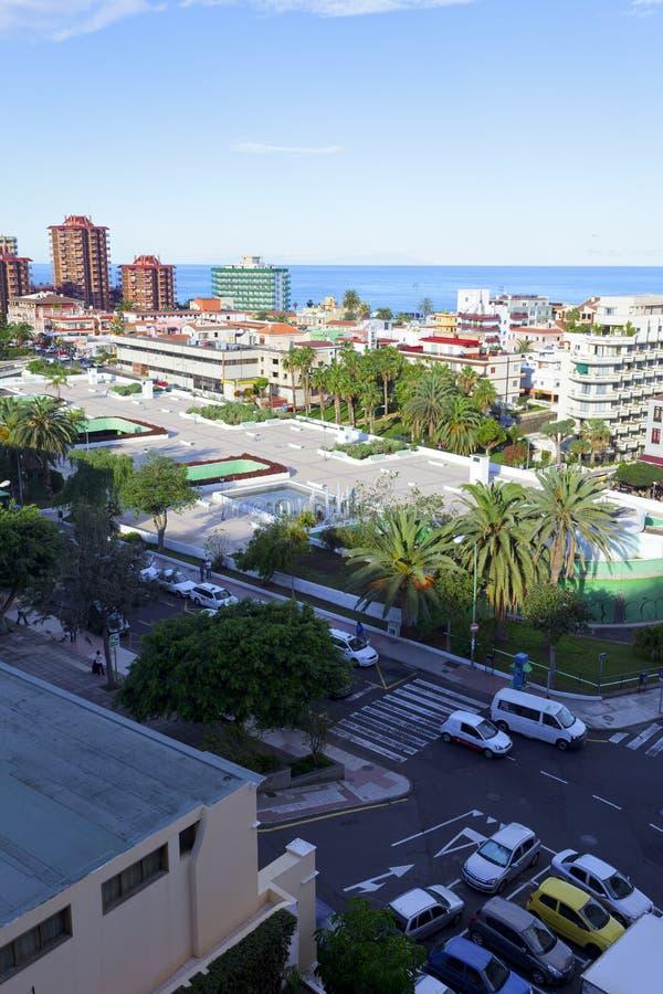 Puerto de la Cruz. View of the city Puerto de la Cruz, Tenerife / Spain, Dezember 2012 royalty free stock photo