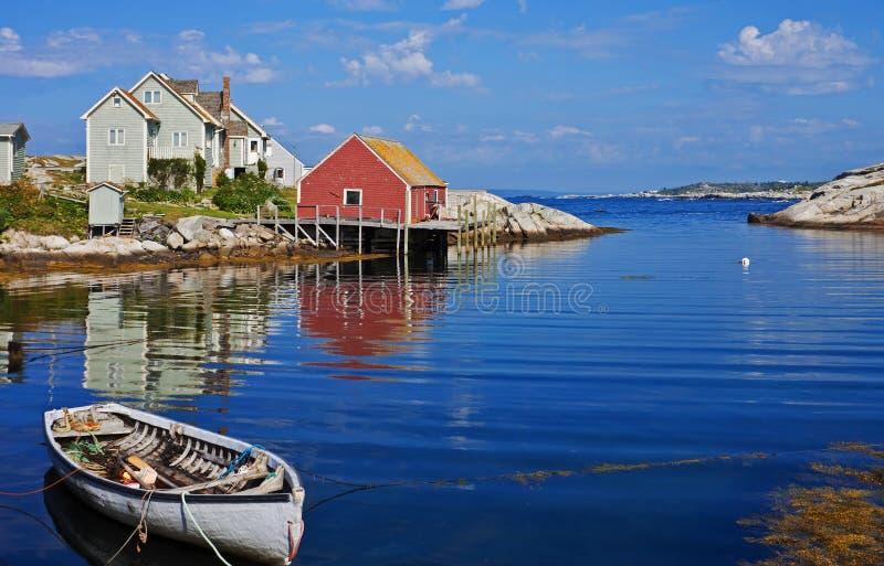 Puerto de la ensenada de Peggys, Nova Scotia foto de archivo libre de regalías