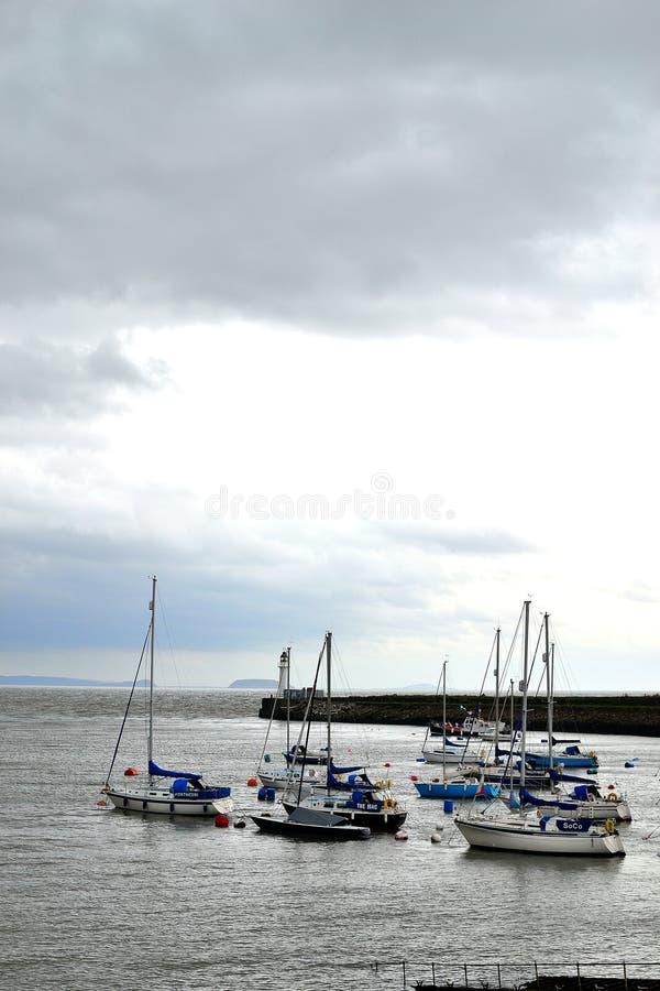 puerto de la isla de barry, puerto deportivo el Sur de Gales, Reino Unido imagen de archivo