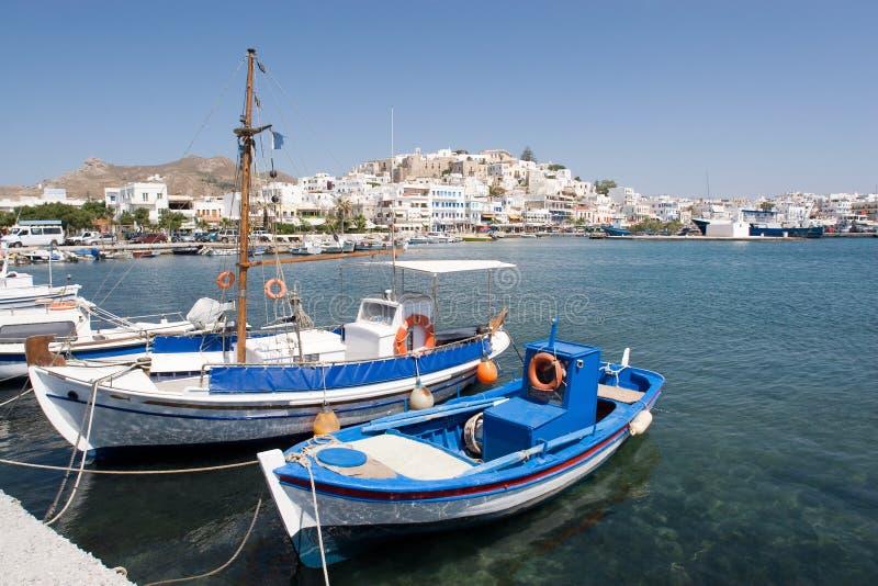 Puerto de la isla griega de Naxos foto de archivo