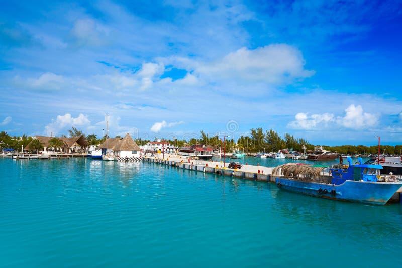 Puerto de la isla de Holbox en Quintana Roo México fotos de archivo