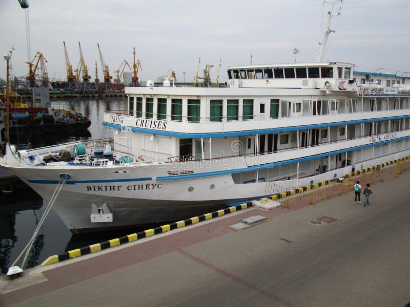 Puerto de la tarde, Odessa, Ucrania foto de archivo libre de regalías