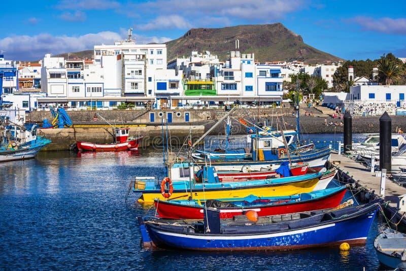 Puerto de las nieves Gran Canaria fotografering för bildbyråer