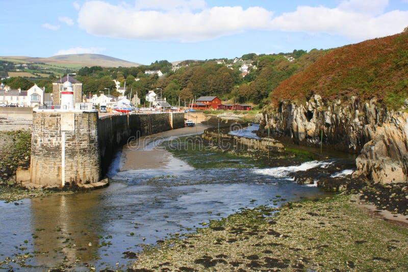 Puerto de Laxey, isla del hombre foto de archivo