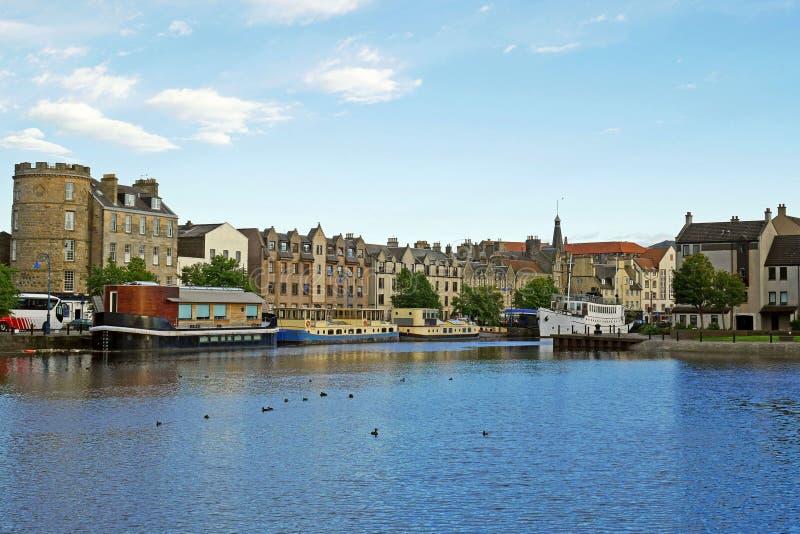 Puerto de Leith, Edimburgo, ESCOCIA imagenes de archivo