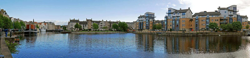 Puerto de Leith, Edimburgo, ESCOCIA fotografía de archivo