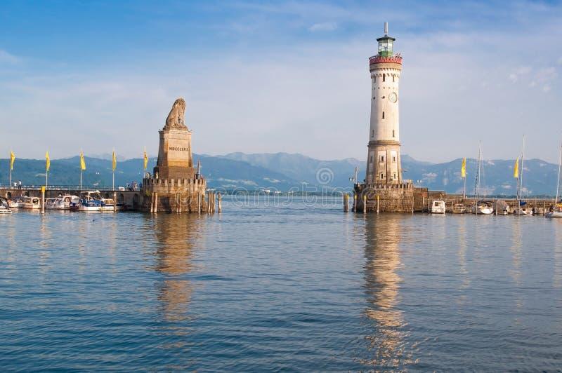 Puerto de Lindau imagenes de archivo