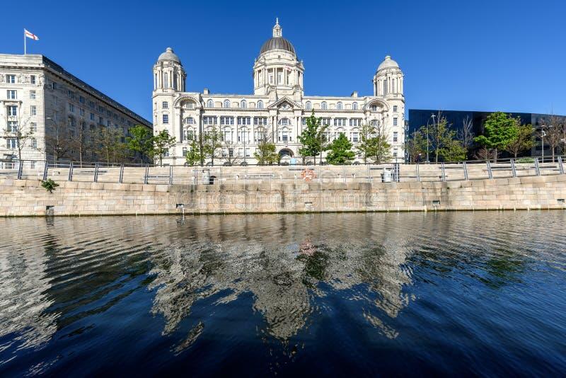 Puerto de Liverpool foto de archivo