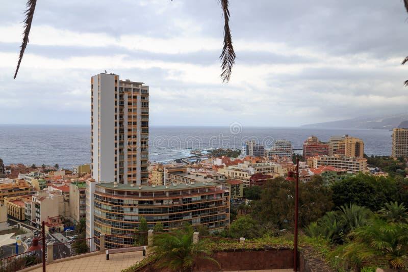 Puerto De Los angeles Cruz, Tenerife fotografia stock