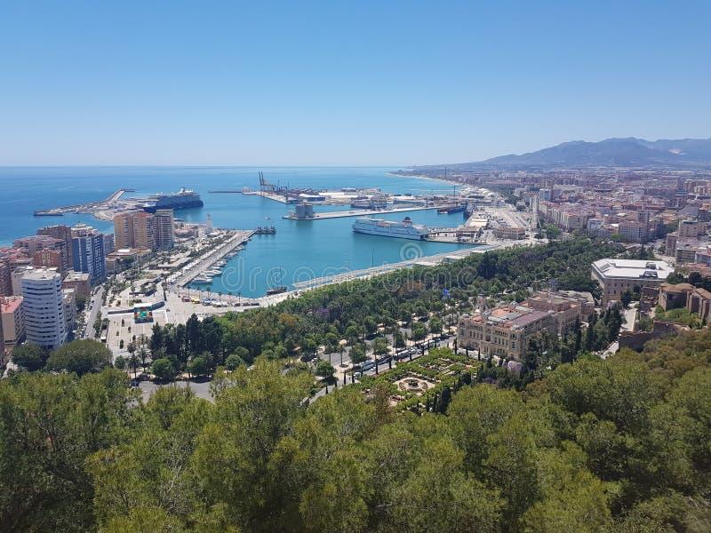 Puerto de Málaga foto de archivo