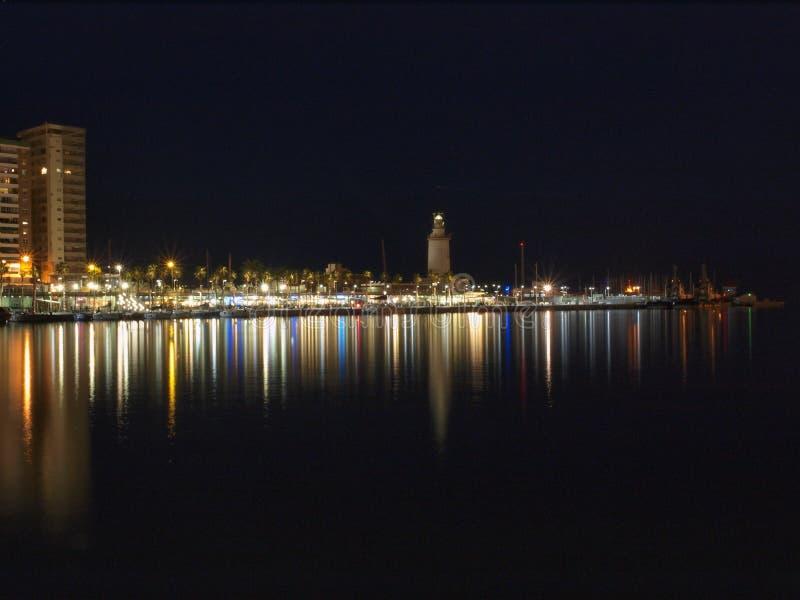 Puerto de Málaga foto de archivo libre de regalías