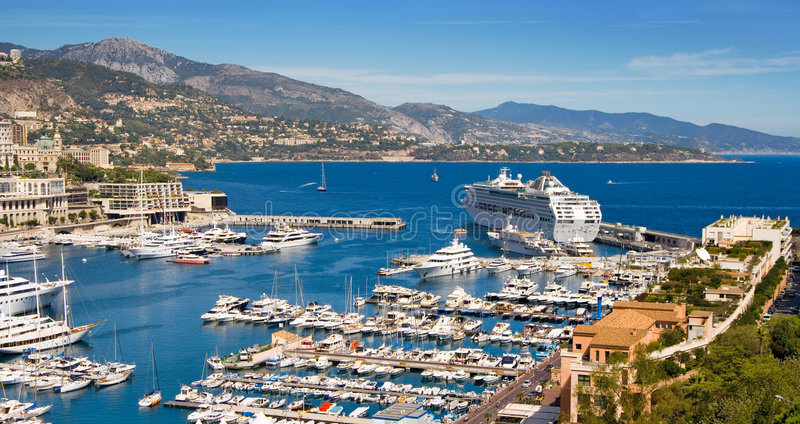 Puerto de Mónaco fotografía de archivo libre de regalías