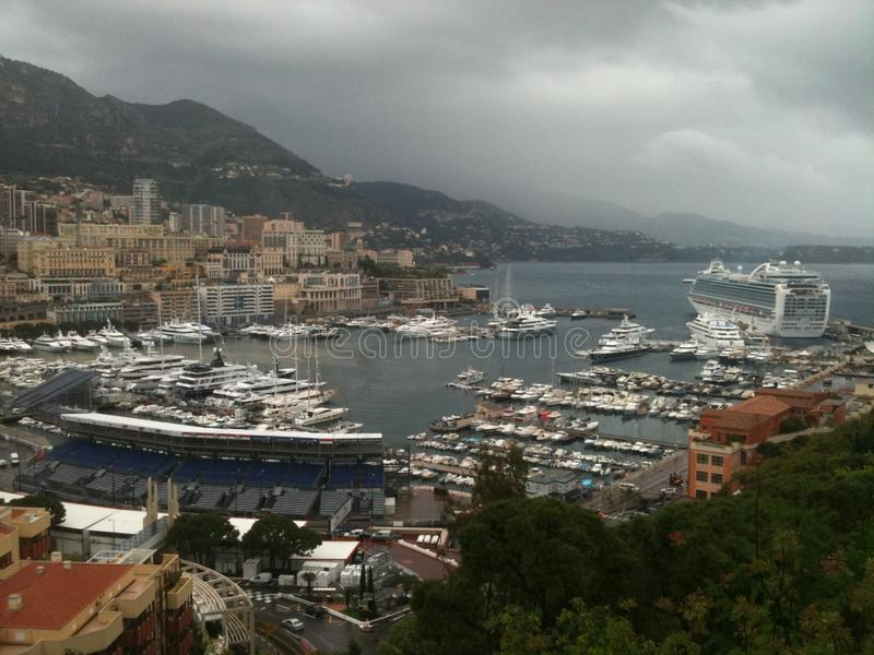 Puerto de Mónaco foto de archivo libre de regalías