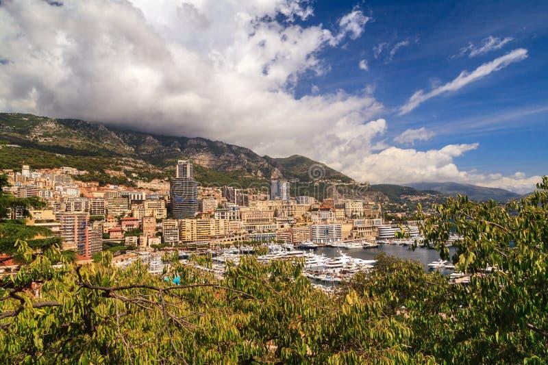 Puerto de Mónaco, riviera francesa fotografía de archivo