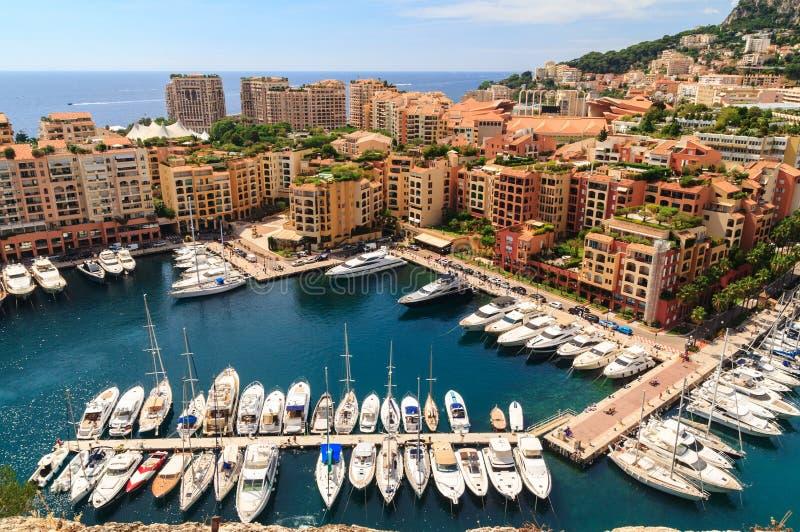 Puerto de Mónaco, riviera francesa foto de archivo