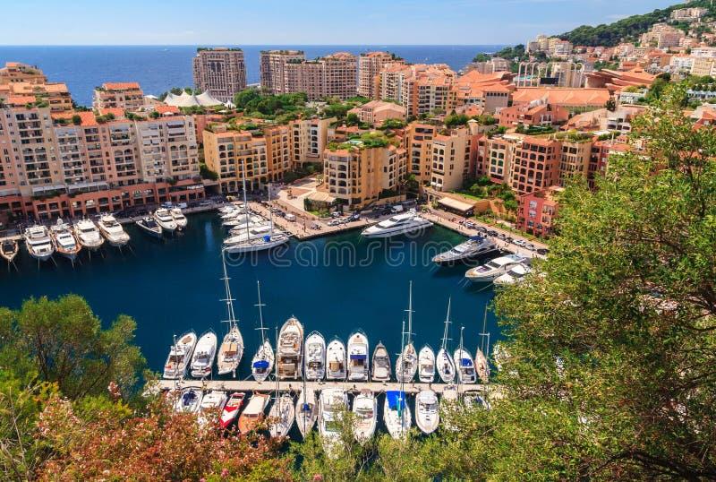 Puerto de Mónaco, riviera francesa foto de archivo libre de regalías