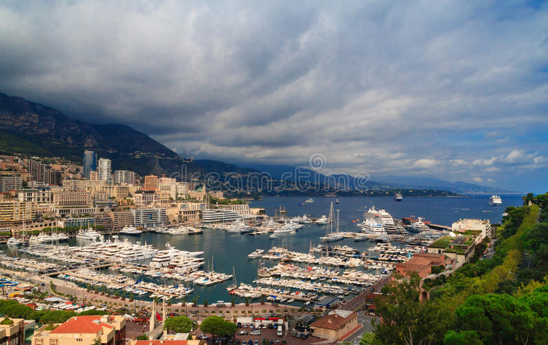 Puerto de Mónaco, riviera francesa imagen de archivo libre de regalías