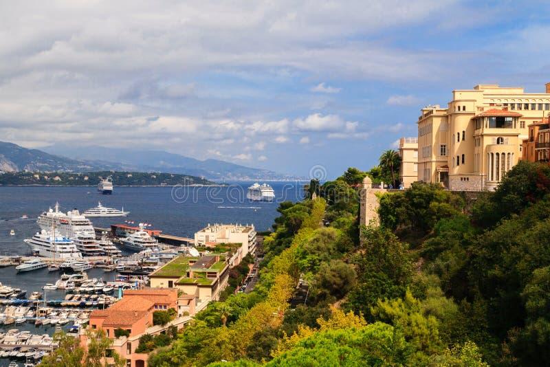 Puerto de Mónaco, riviera francesa fotografía de archivo libre de regalías