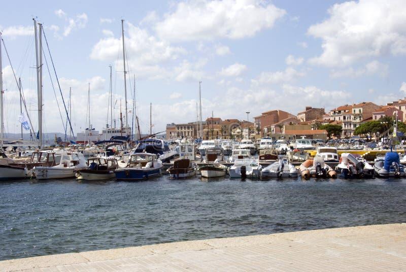 Puerto de Magdalena del La - Cerdeña fotografía de archivo