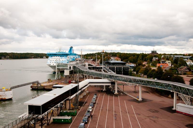 Puerto de Mariehamn imágenes de archivo libres de regalías
