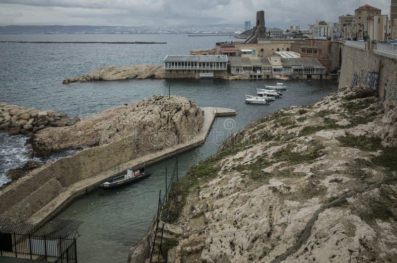 Puerto de Marsella fotografía de archivo libre de regalías
