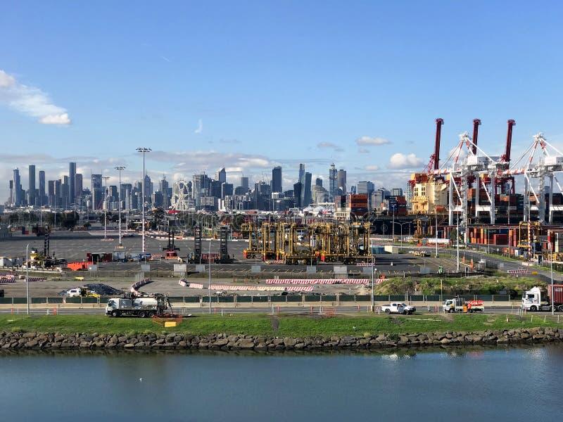 Puerto de Melbourne en la isla 1 de Coode imágenes de archivo libres de regalías