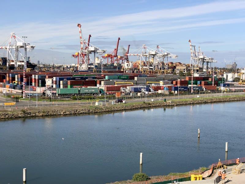 Puerto de Melbourne en la isla 2 de Coode imagen de archivo