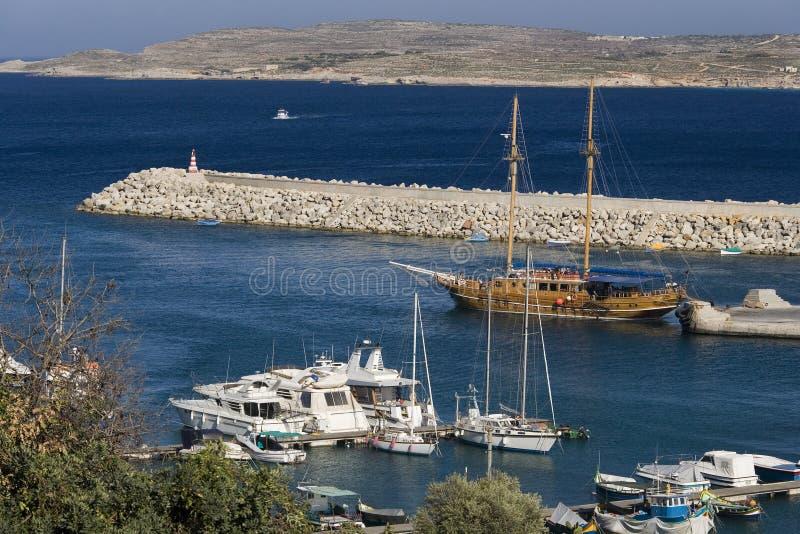 Puerto de Mgarr - Gozo - Malta imagenes de archivo
