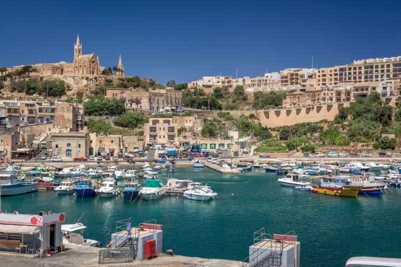 Puerto de Mgarr, Malta foto de archivo