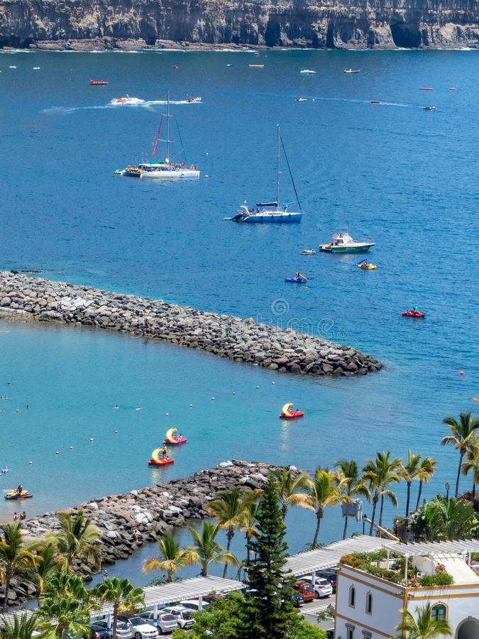 Puerto de Mogán, Gran Canaria island. Gran Canaria/Spain - August 10 2019: Puerto de Mogán is a resort and fishing village in the municipality of Mogán royalty free stock photography