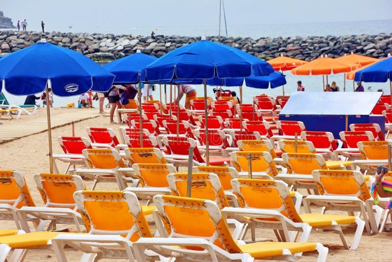 Puerto de Mogan,大加那利岛 库存图片