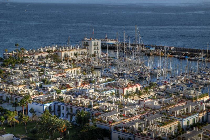 Puerto de Mogan aerial, Gran Canaria, Spain royalty free stock photography