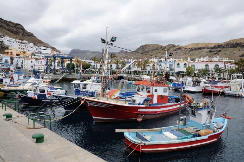 Puerto de Mogan, canario magnífico fotografía de archivo libre de regalías