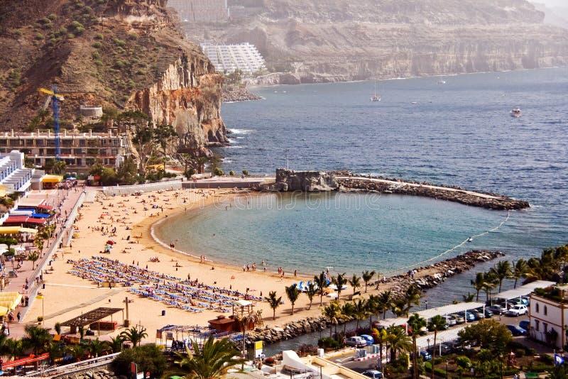 Puerto DE Mogan strand royalty-vrije stock afbeelding