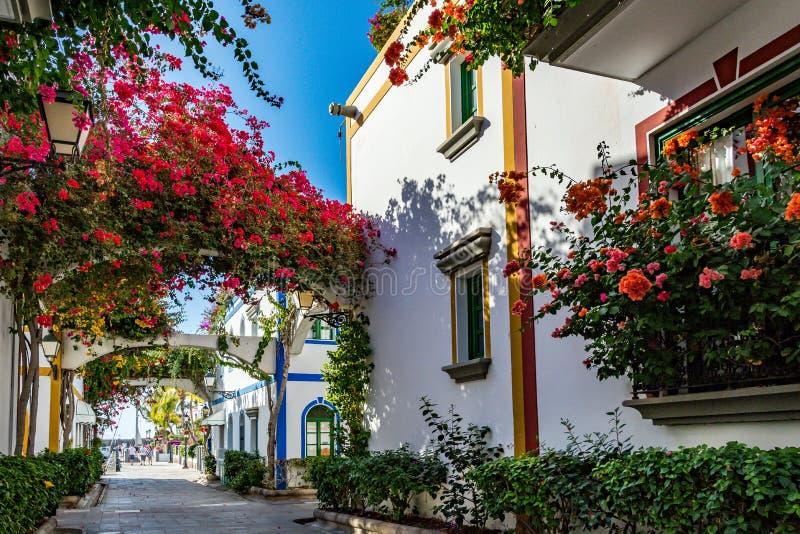 Puerto de Mogan, uma cidade bonita, romântica em Gran Canaria, Espanha foto de stock