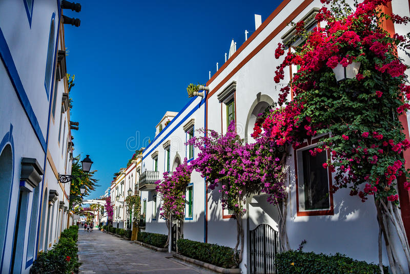 Puerto de Mogan, una bella, città romantica su Gran Canaria, Spagna fotografia stock