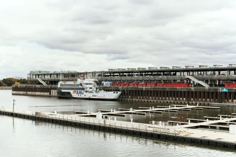 Puerto de Montreal, Quebec, Canadá fotografía de archivo libre de regalías