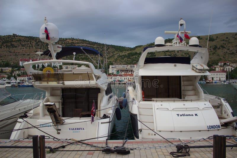 Puerto de muelle del barco fotos de archivo libres de regalías