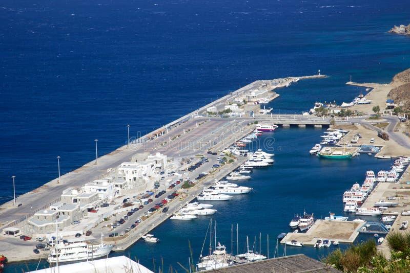 Puerto de Mykonos foto de archivo libre de regalías