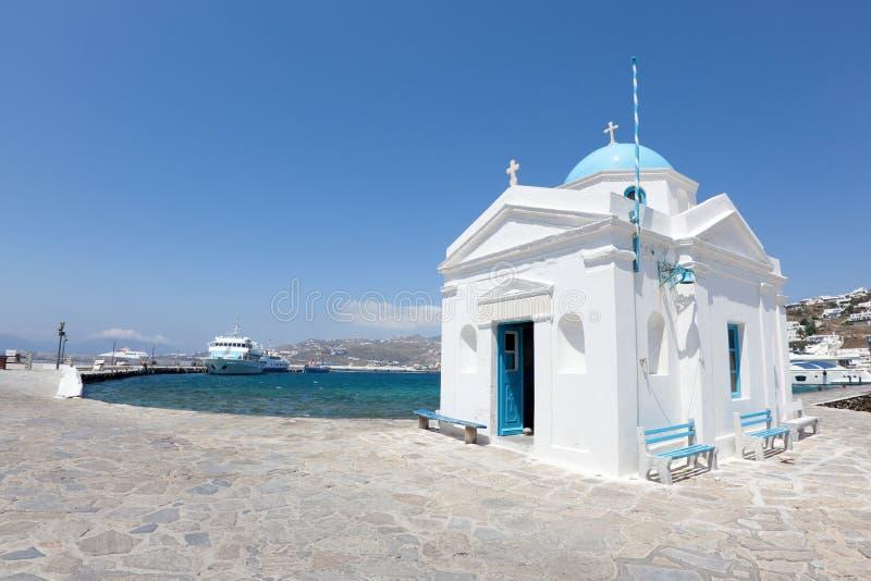 Puerto de Mykonos imágenes de archivo libres de regalías