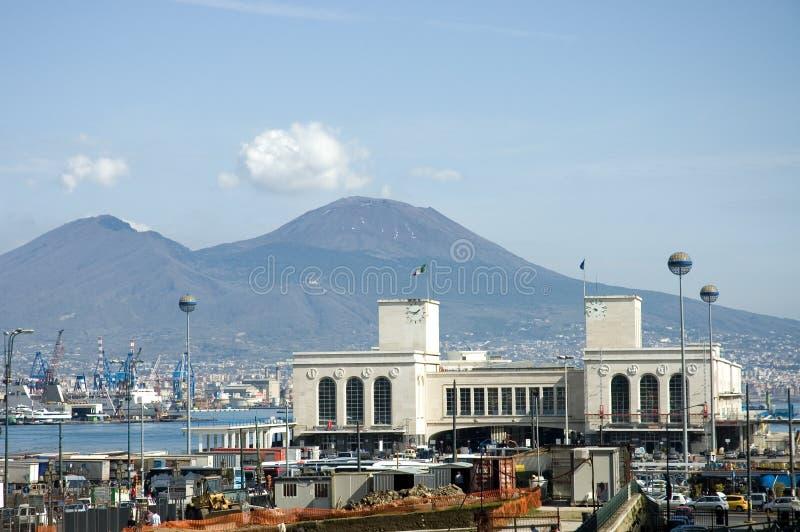Puerto de Nápoles imagen de archivo