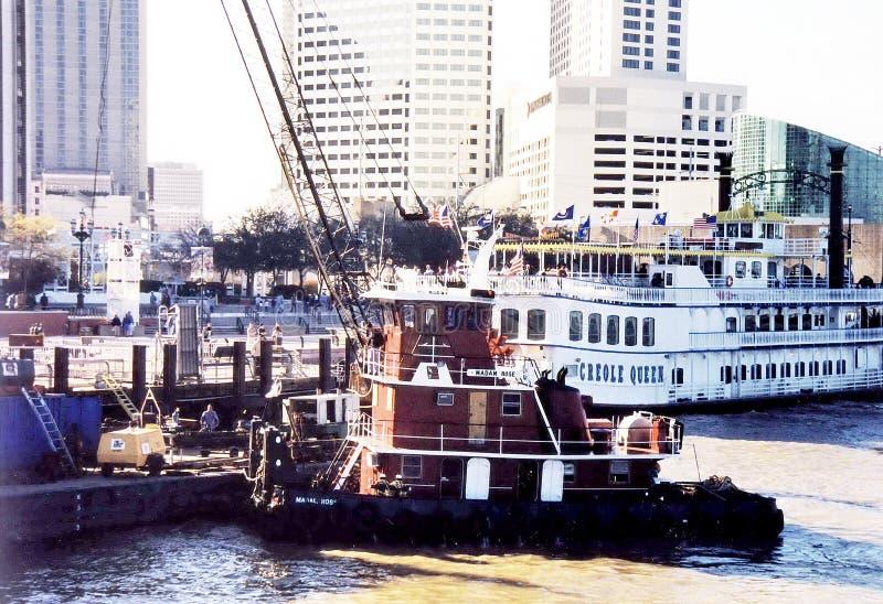 Puerto 2002 de New Orleans foto de archivo libre de regalías