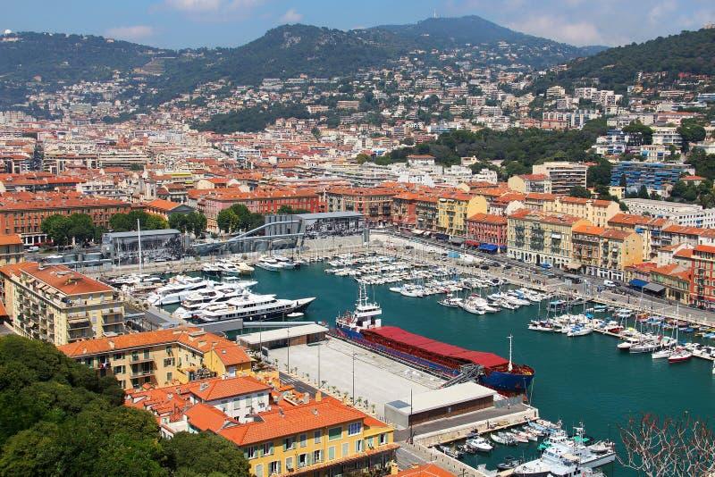 Puerto de Niza, ` Azur, Francia de Cote d imagen de archivo