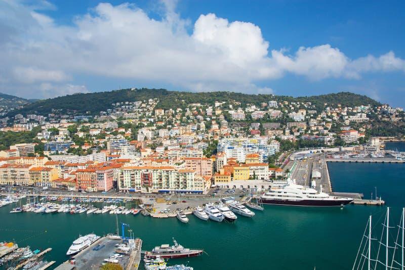 Puerto de Niza, Cote d Azur imagen de archivo