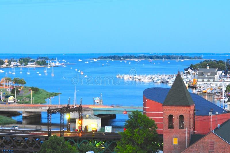 Puerto de Norwalk foto de archivo libre de regalías