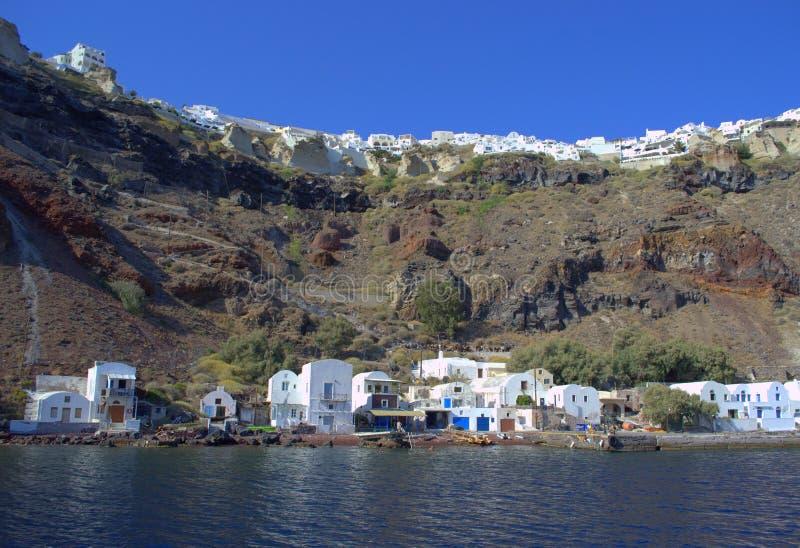 Puerto de Oia, Santorini, Grecia foto de archivo libre de regalías