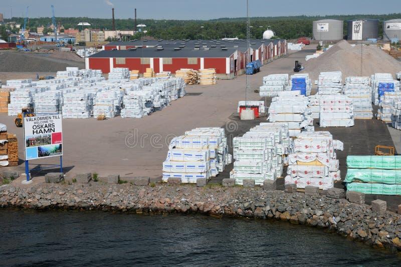 Puerto de Oskarshamn imagenes de archivo