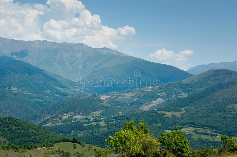 Puerto de Perves Pyrenees royalty free stock image