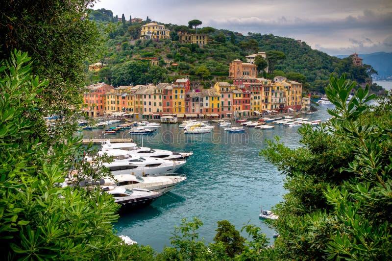 Puerto de Portofino foto de archivo